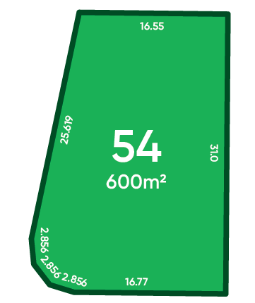 Rosewood Green - St Andrews Release (Stage 1B) Lot 54 Plan