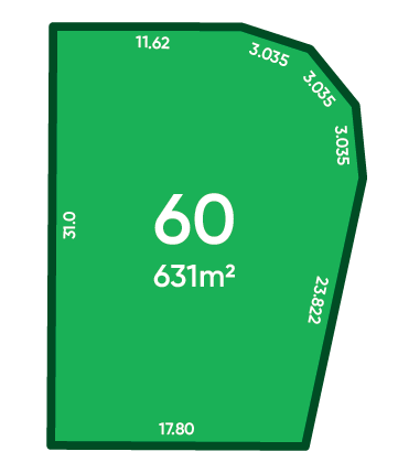 Rosewood Green - St Andrews Release (Stage 1B) Lot 60 Plan