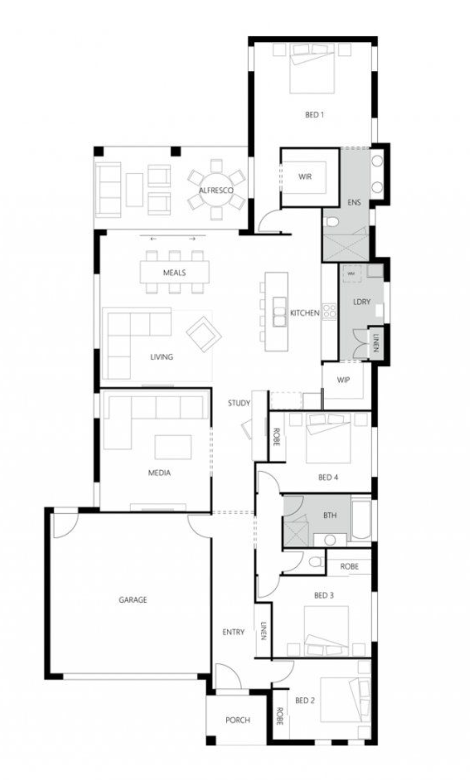 Rosewood Green - Aspect 246 Floor Plan - Hallmark Homes