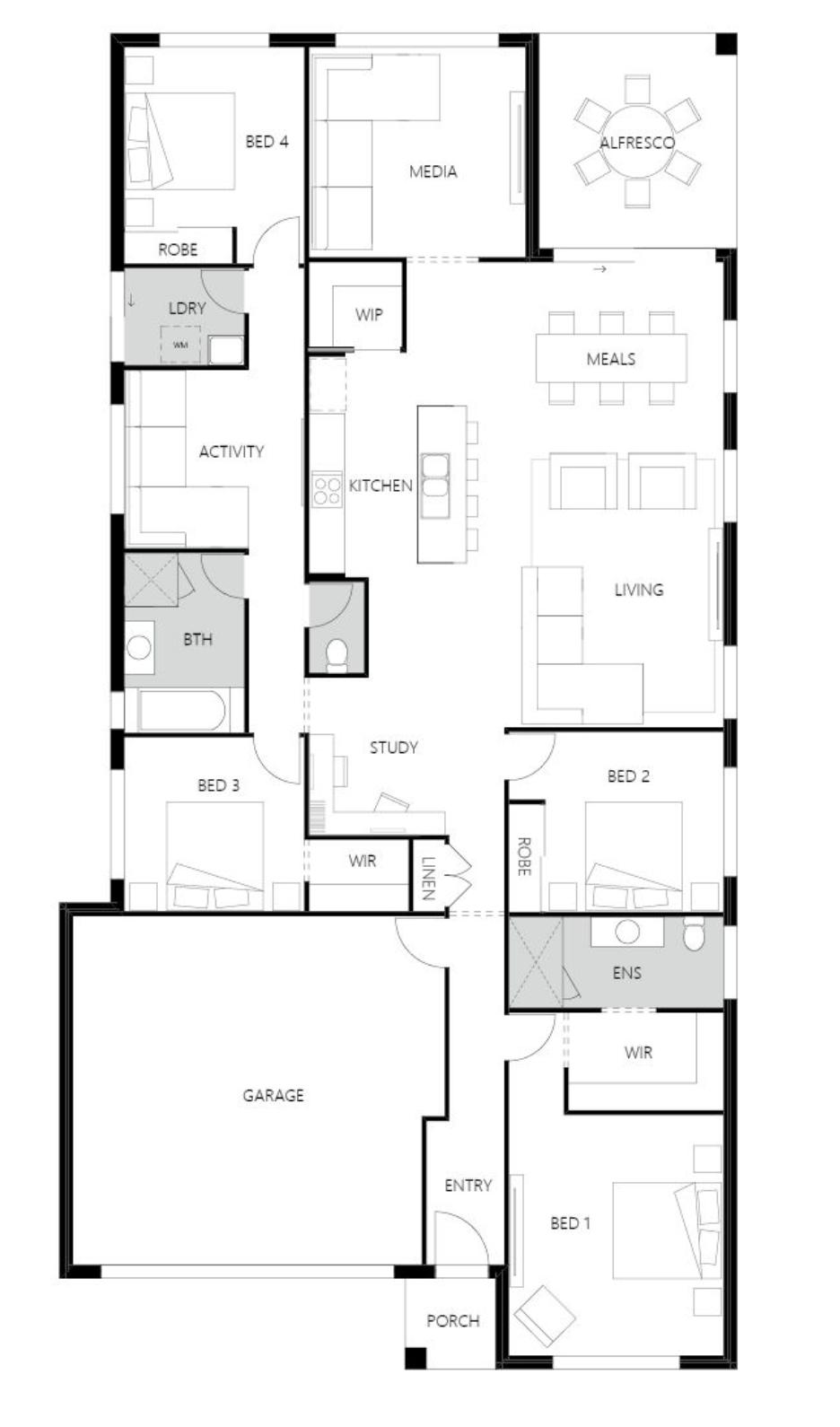 Rosewood Green - Banksia 229 v2 Floor Plan - Hallmark Homes
