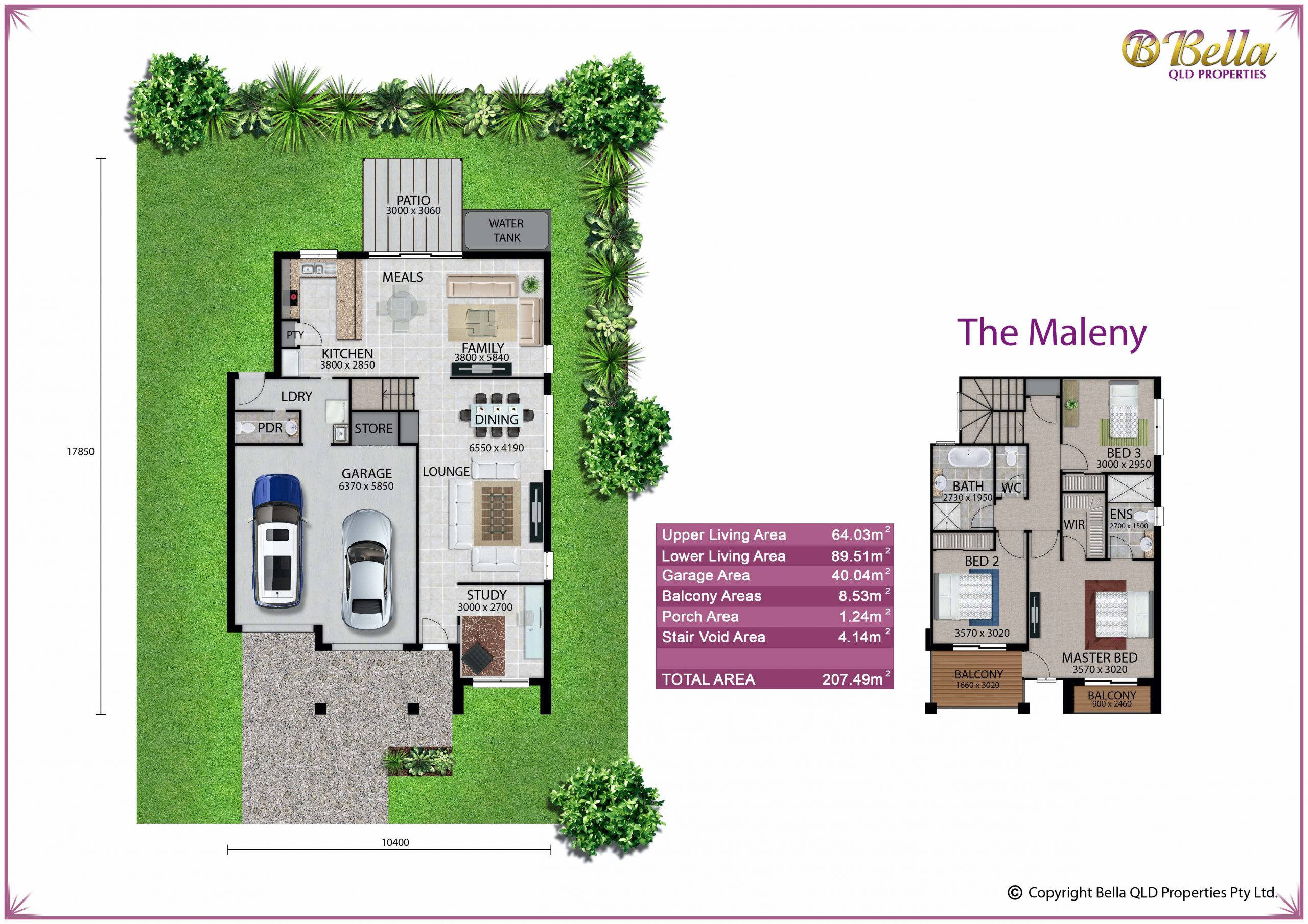 Rosewood Green - Maleny Floor Plan - Bella Qld