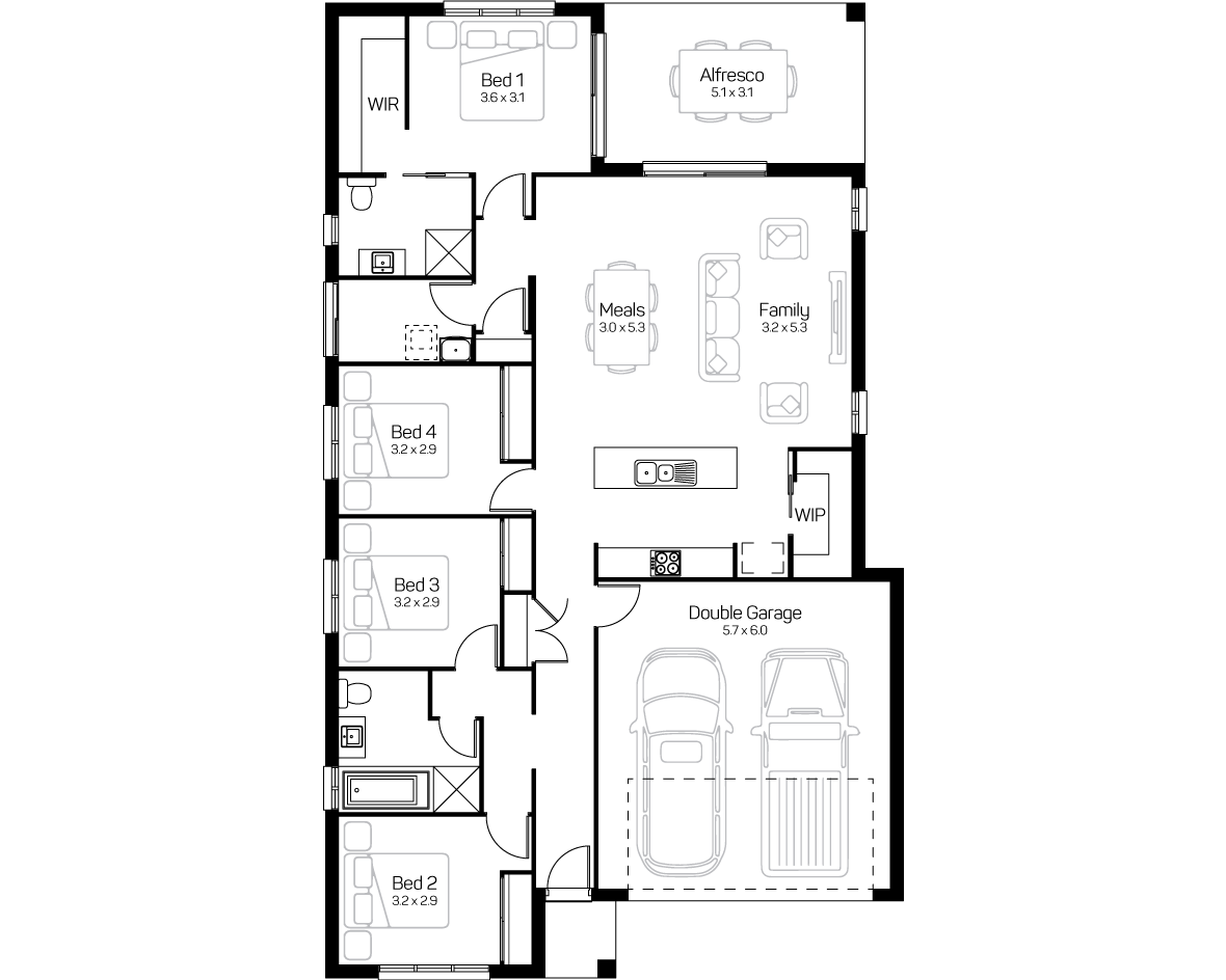 Rosewood Green - Lot 56 - Tahoe 21 Floor Plan - Domaine Homes